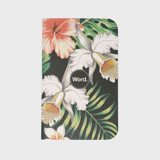 BY WORD NOTEBOOK-ALOHA FLOWERS