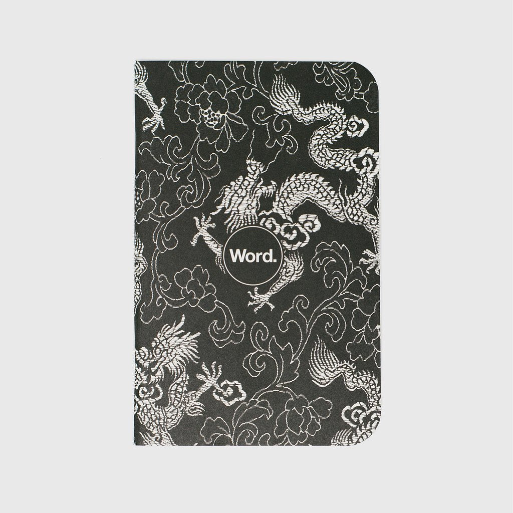 BY WORD NOTEBOOK-BLACK DRAGON