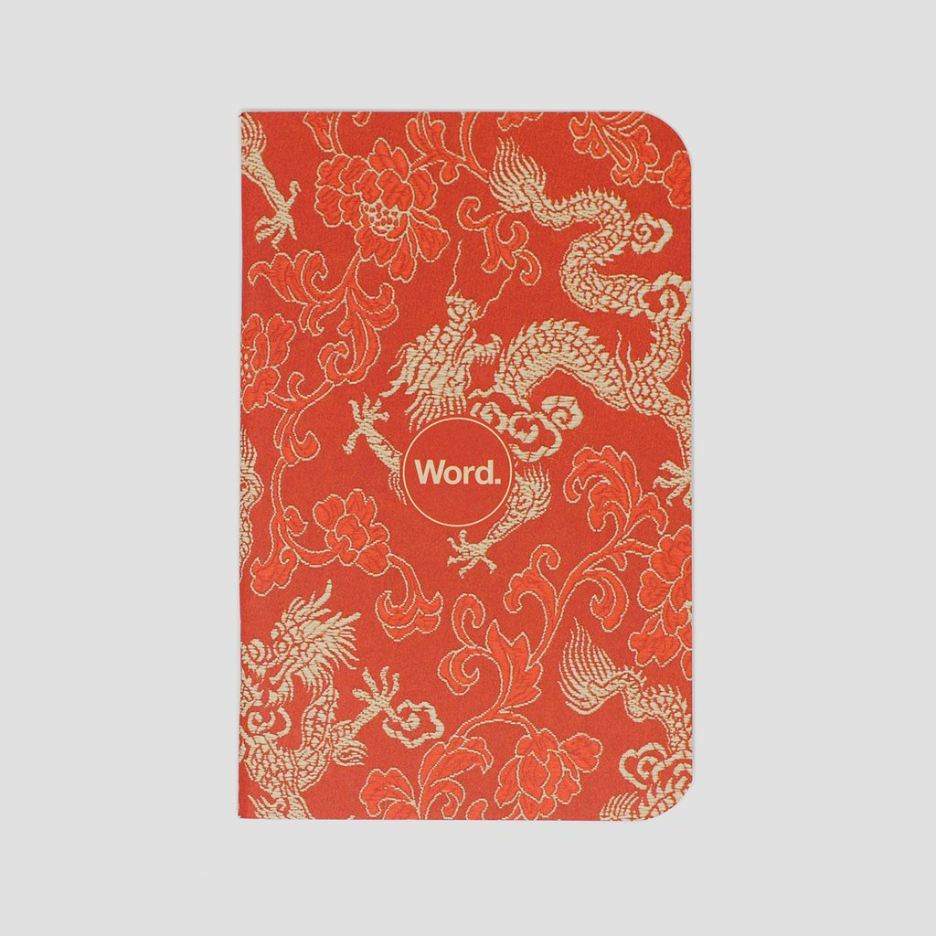 BY WORD NOTEBOOK-RED DRAGON
