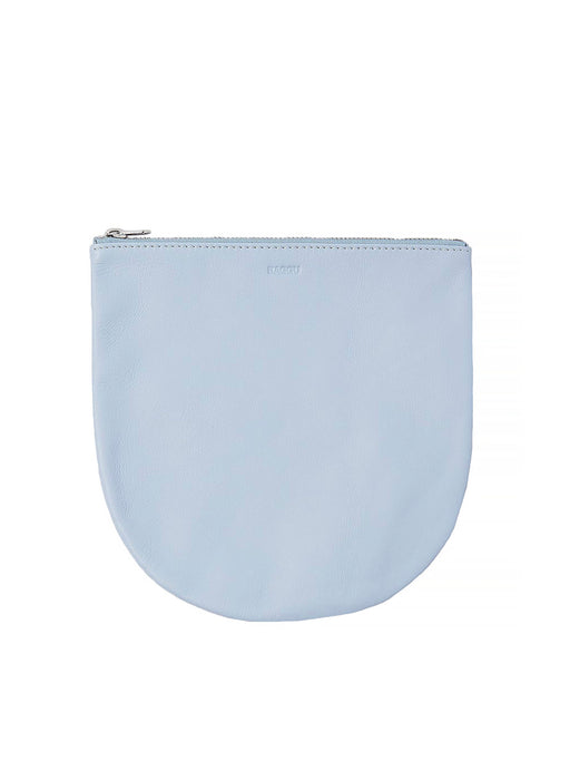 BAGGU Large U Leather Pouch - SOFT BLUE