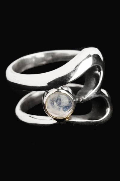 B-Ring with Moonstone