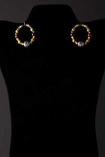 Beaded Circle Earrings by Michelle
