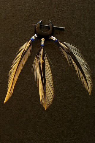 Buddhaful Feather Earrings