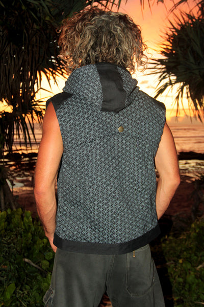 Hive Vest w/ Flower of Life Print