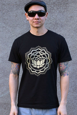 Lotus Icon Men's Tee by Rythmatix Clothing