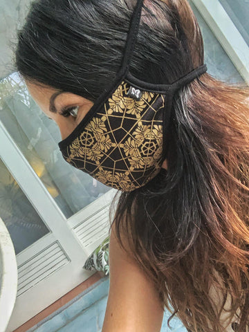 Adjustable Love Print Mask