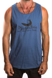 Men's Tank with Meditation Surfer