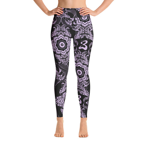 Lotus Subs on Yoga Leggings - Purps