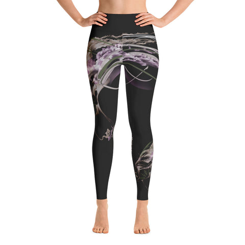 Medusa Yoga Leggings - Artwork by Paulina