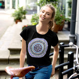 All-Over Print Crop Tee with Color Wheel