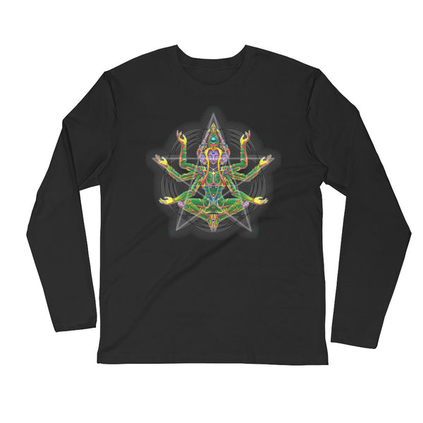 Mantis - Buddhaful Long Sleeve Fitted Crew