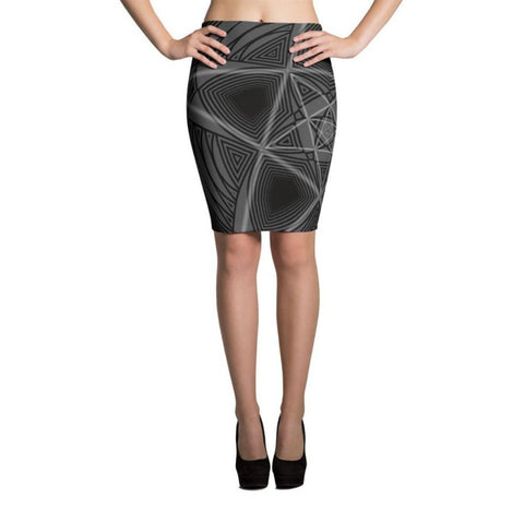 Pencil Skirt w/ Mantis artwork