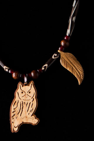 Owl Necklace by Michelle