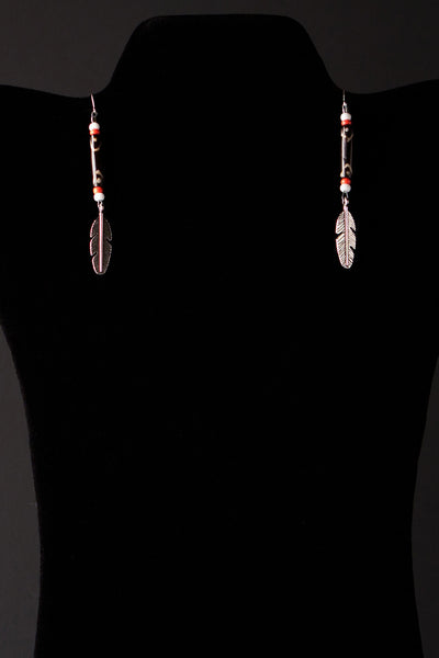 Simple Feather Earrings by Michelle