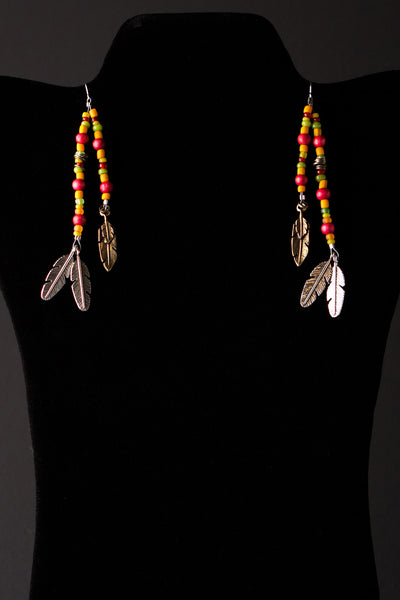 Tri Feathers Earrings by Michelle