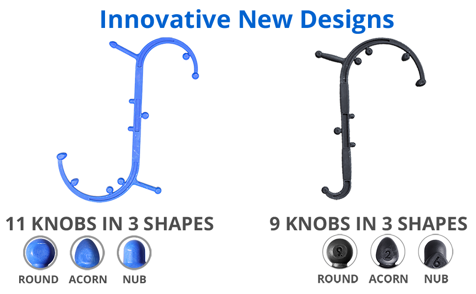 Innovative New Designs - 11 knobs in 3 shapes & 9 knobs in three shapes