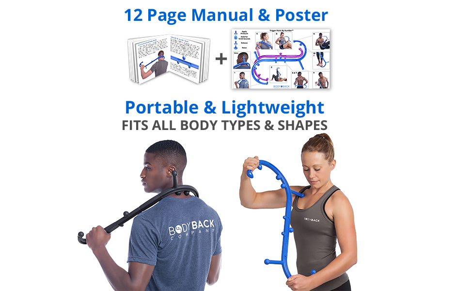 Portable & Lightweight and 12-page Manual and instructional poster included