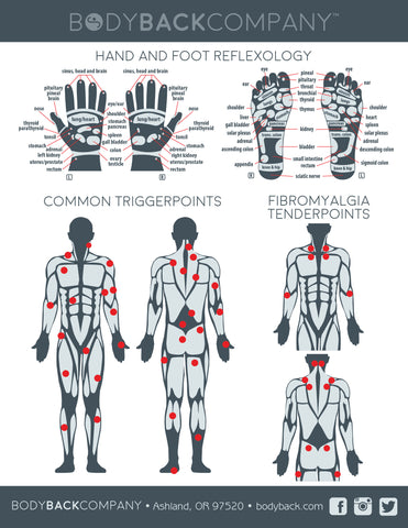 Back trigger points chart self massage trigger point guide body