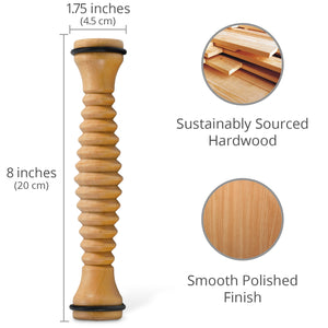 Wooden Foot Roller 2-Pack - Body Back Company
