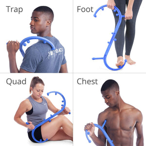 Body Back Buddy Trigger Point Massage Tool and Usage Poster - Body Back Company