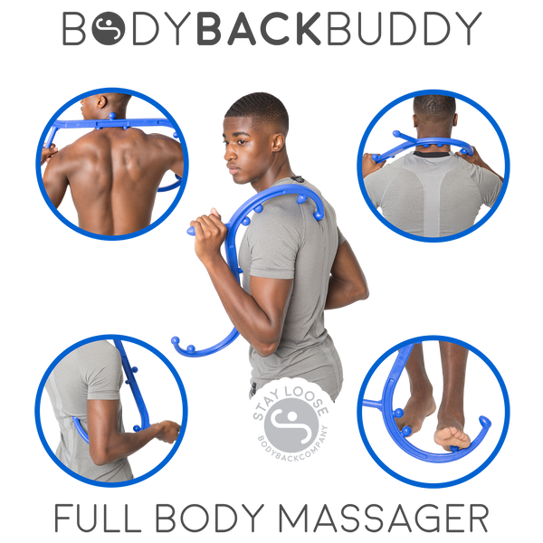 Body Back Buddy & DaVinci Tool Firm Self Massager - Headache & Migraine Relief Bundle - Body Back Company