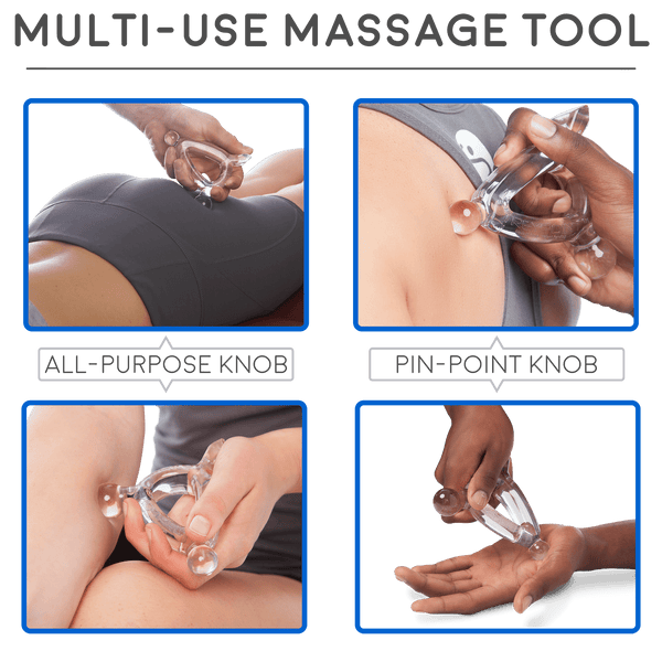 Body Back Buddy Original (Black) with Treypoint Palm-Sized Trigger Point Self Massage Bundle - Body Back Company