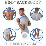 Body Back Buddy Trigger Point Self-Massager (Blue) Bundle with the RhinoPro Massage Ball (Black) - Body Back Company