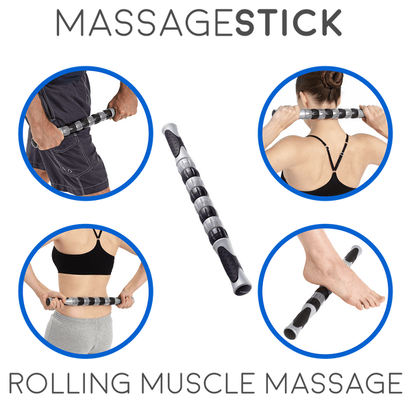 Body Back Buddy Trigger Point Self-Massager Black Bundle with the RhinoPro Massage Ball & Sports Therapy Massage Stick 1.0 - Body Back Company