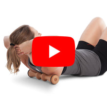 Load and play video in Gallery viewer, Wooden Back Roller & Stretcher