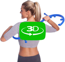 Load 3D model into Gallery viewer, Body Back Buddy Trigger Point Massage Tool and Usage Poster