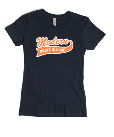 Modern Baseball Women's Tee - Navy