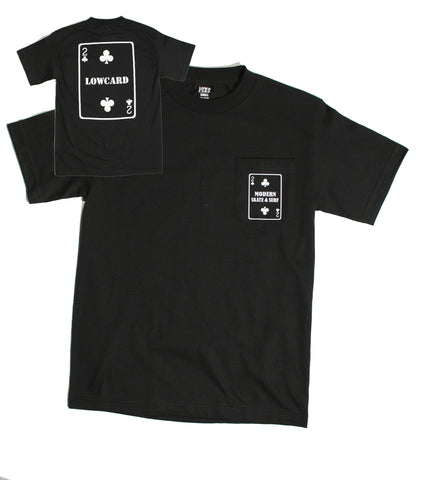 Modern x Low Card Shop Collab Pocket Tee - Black