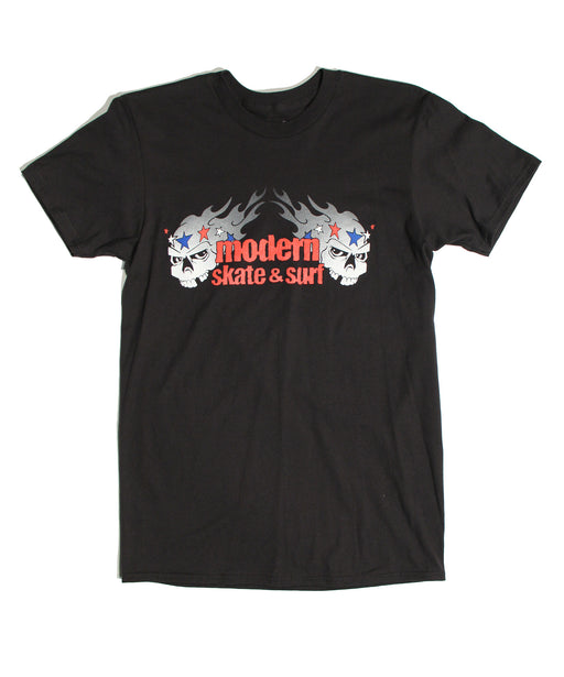 Modern Skulls Youth Tee Shirt - Black
