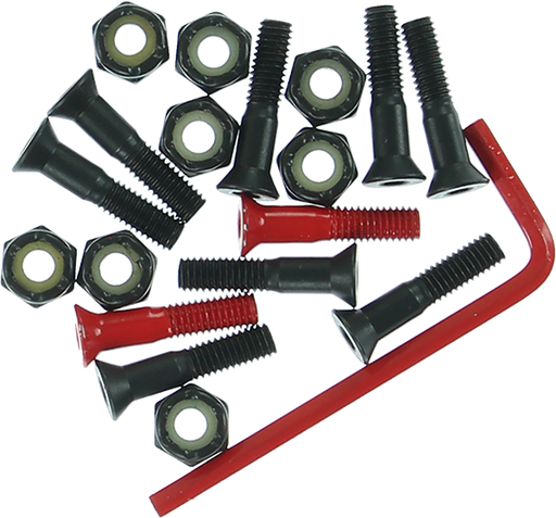 "Element Hardware Set Allen 7/8"" Blk/Red"