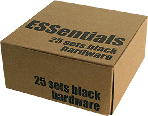 "Essentials (25/Pk) Black 1"" Hardware Ppp"