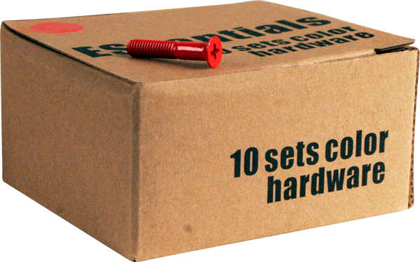"Essentials 10/Pk Red 1"" Hardware Ppp"