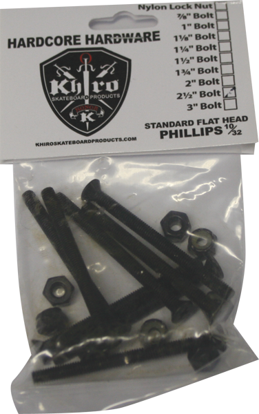 "Khiro Flathead Hardware 2-1/2"" Phillips Single Set"