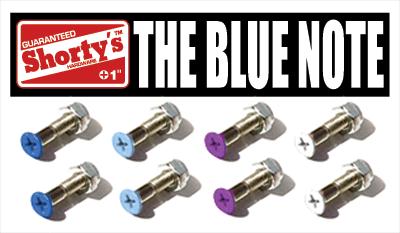 "Shorty's 1"" Color Hardware- Blue Note Single"