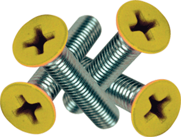 "Standard Phillips Bolt 1"" Yellow Head"