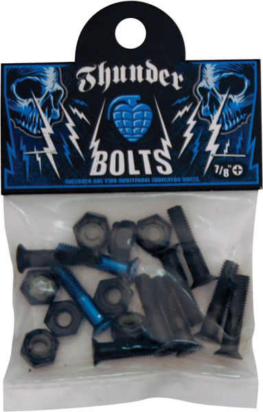 "Thunder 7/8"" Blue Hardware Single Set"