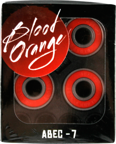Blood Orange Abec-7 Bearings Single Set