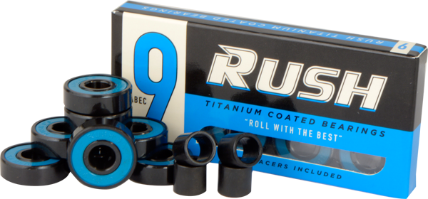 Rush Abec-9 Bearings W/Spacers Ppp