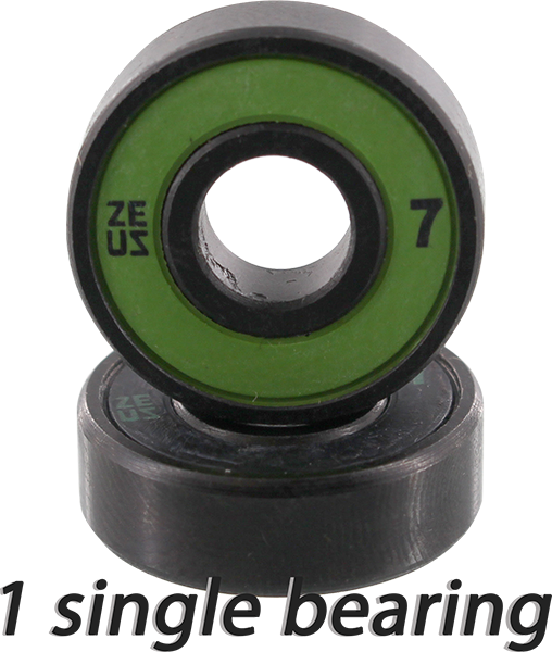 Zeus Abec-7 Single (1Pc) Bearing Blk/Grn