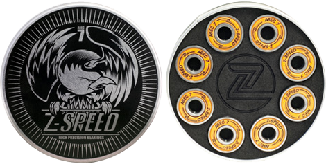 Z-Flex Z-Speed Abec-7 Bearings Single Set
