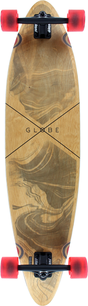 "Globe Pinner Complete-9X41.25"" Marbled Black"