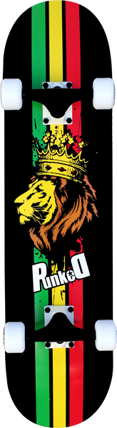 Punked Rasta Lion Complete -7.75  Ppp