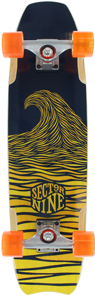 Sec9 Shark Bite Blk/Yellow Complete-7.75X29.5