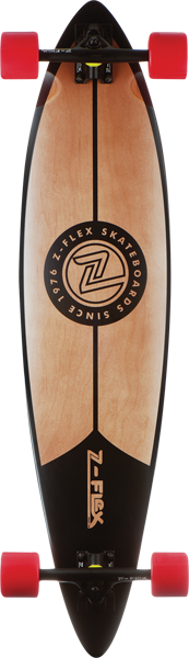 Z-Flex Pinstripe Pintail Complete-9X38 Blk/Nat/Red