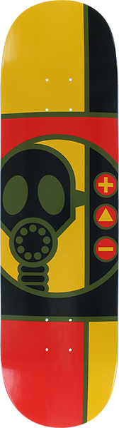Aw Gas Mask Rnd Deck-8.37 Red/Gold/Blk
