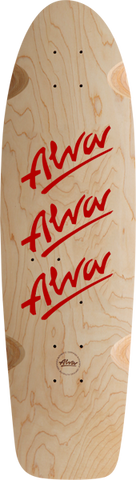 Alva 1979 Tri-Logo Deck-10X30 Nat/Red W/Grip